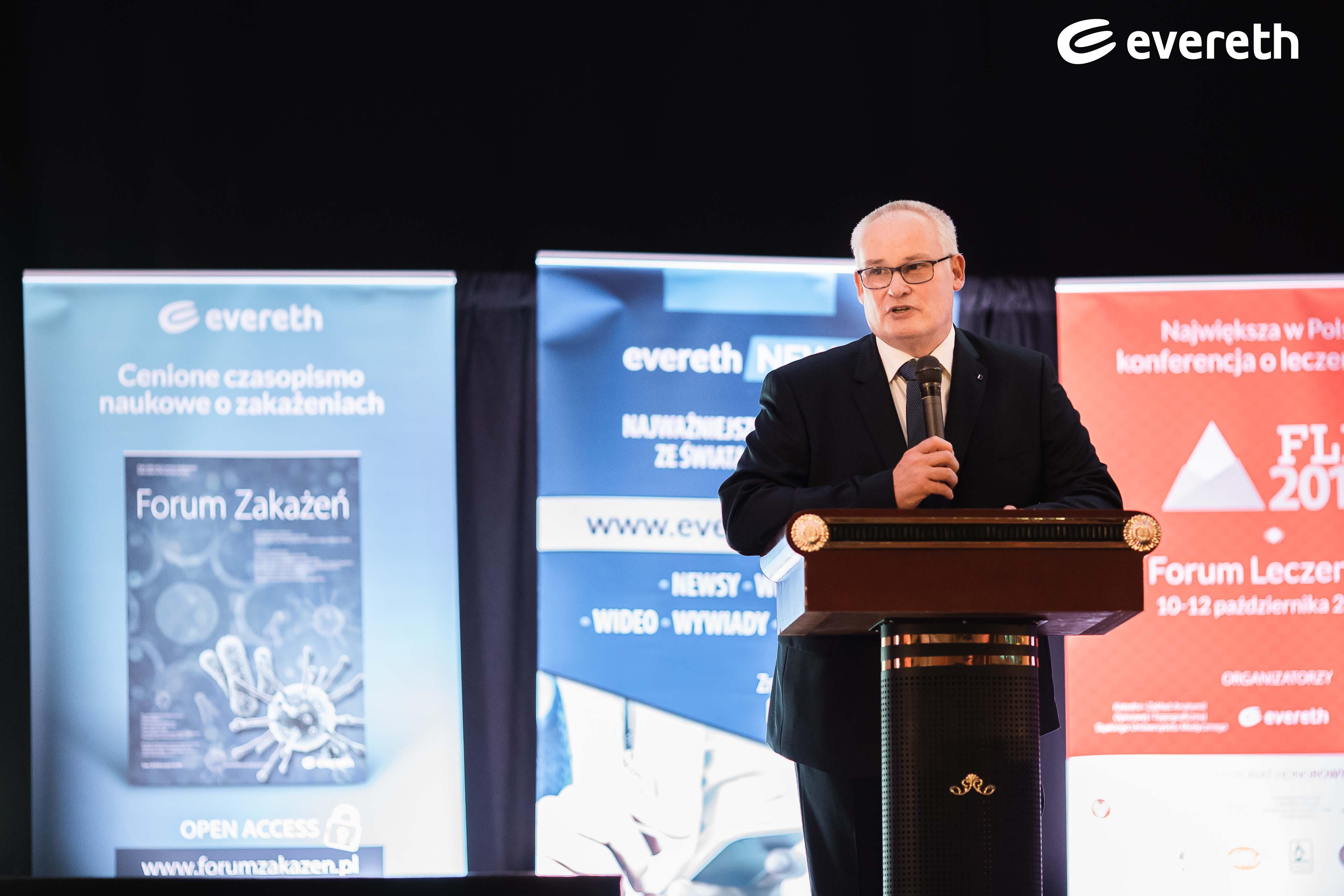 Dr hab. n. med. Marek Kucharzewski, Przewodniczący Komitatu Naukowego III Forum Leczenia Ran. Fot.: Evereth Publishing
