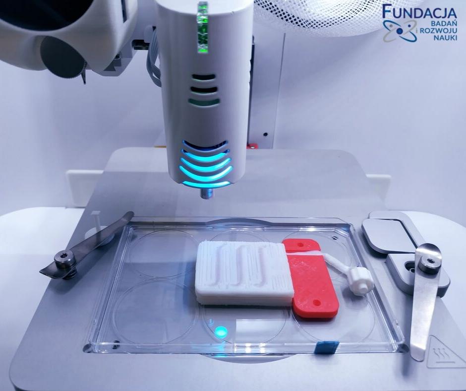 model_bionicznej_trzustki_w_trakcie_druku