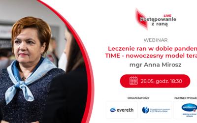 """26 maja rusza cykl webinarów """"Postępowanie z raną LIVE"""". Zapisz sięjuż dziś!"""