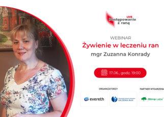 """""""Bez żywienia nie ma gojenia"""". Zapisz się na webinar Zuzanny Konrady!"""