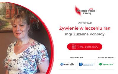 """""""Bez żywienia nie ma gojenia"""" – zapisz się na webinar Zuzanny Konrady!"""