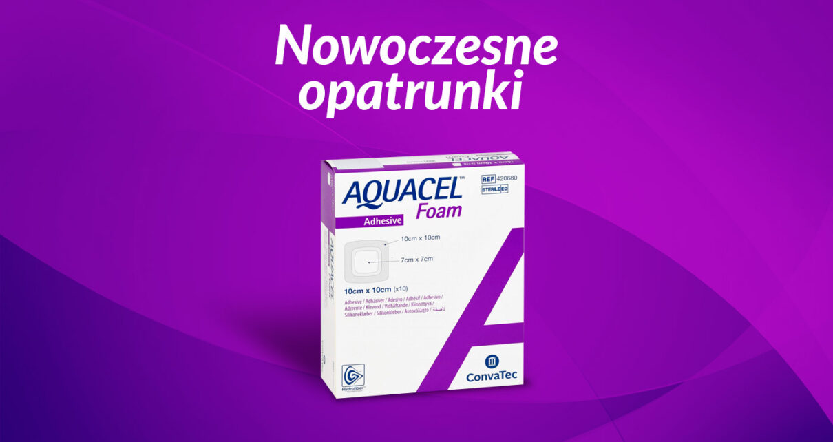 AQUACEL® Foam – opatrunek piankowy na rany z wysiękiem