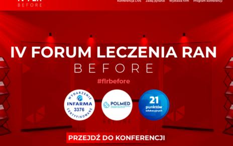 Największa konferencja on-line o leczeniu ran w Polsce – 3,2 tys. osób na IV Forum Leczenia Ran BEFORE