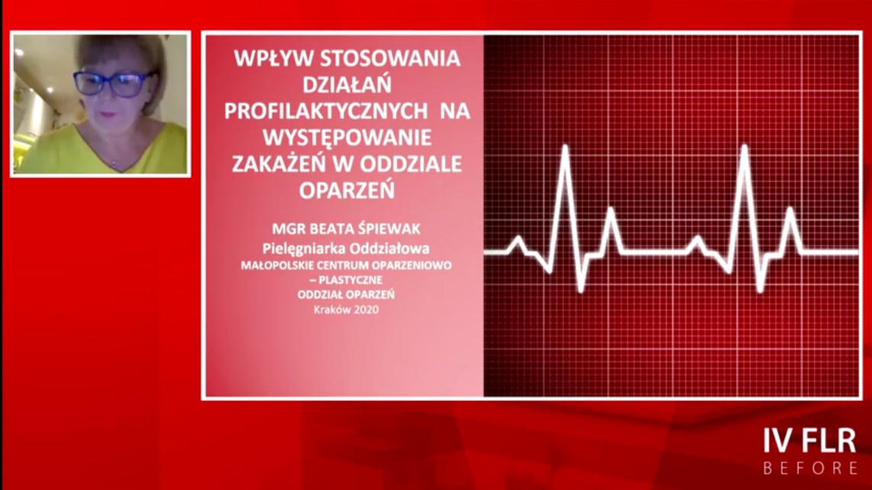 """""""Profilaktyka zakażeń w oddziale oparzeń"""" – wykład z IV FLR BEFORE"""